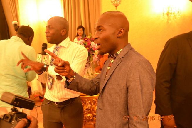 "Bathie Samb du site senvideo en compagnie de son ami Modou Ndao de la radio ""door warr"" à New York."