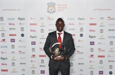 Sadio Mané meilleur joueur de la saison de Liverpool 2017