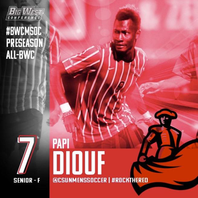 Papi Diouf,  jeune milieu excentré sénégalais dans le championnat universitaire des etats unis avec son club CALIFORNIA STATE.