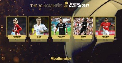 Ballon d'Or 2017 : Sadio Mané parmi les 30 nominés
