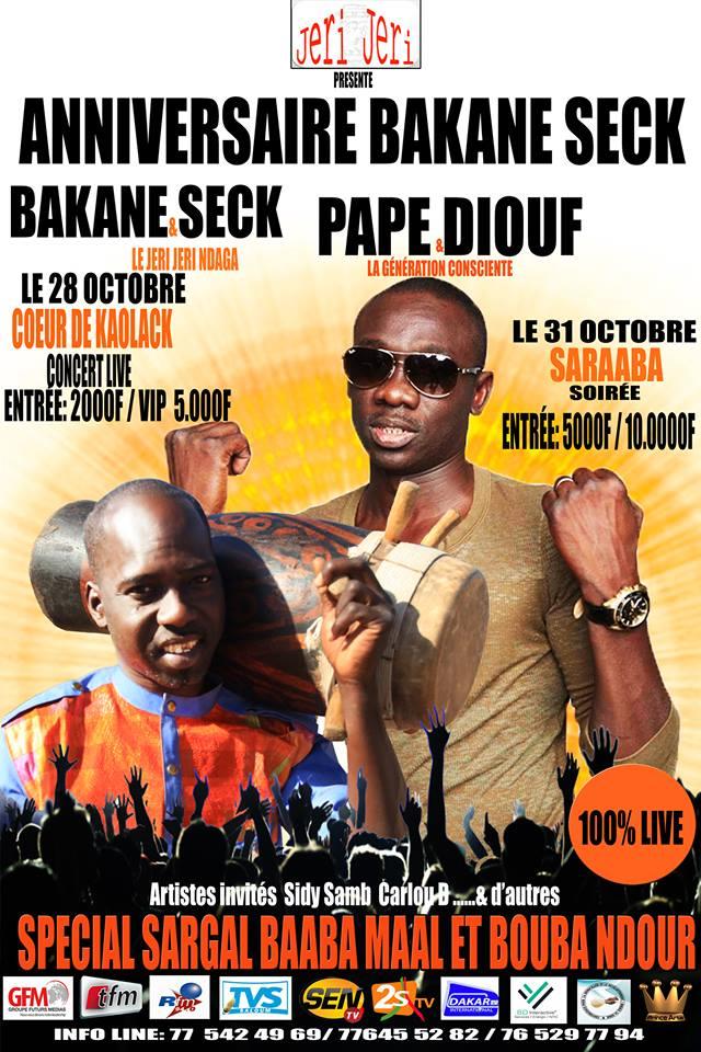 """Bakane Seck et le """"Diery Diéry"""" fête son anniversaire ce 28 octobre à Kaolack."""
