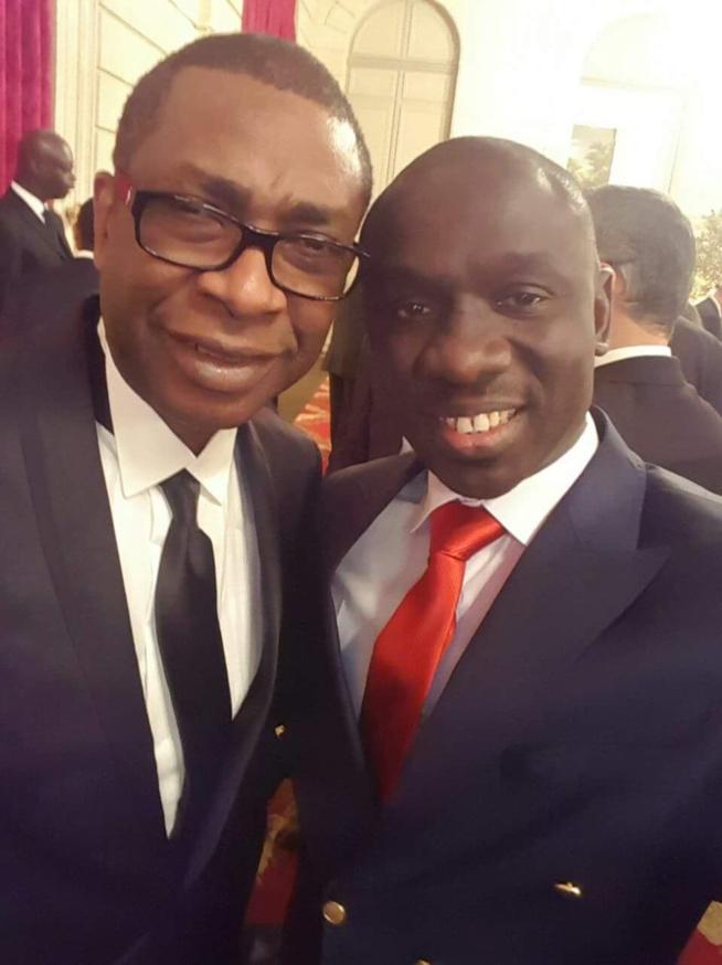 Le prix Praemium Impériale: Pape Diouf félicite son frére et idole Youssou Ndour.