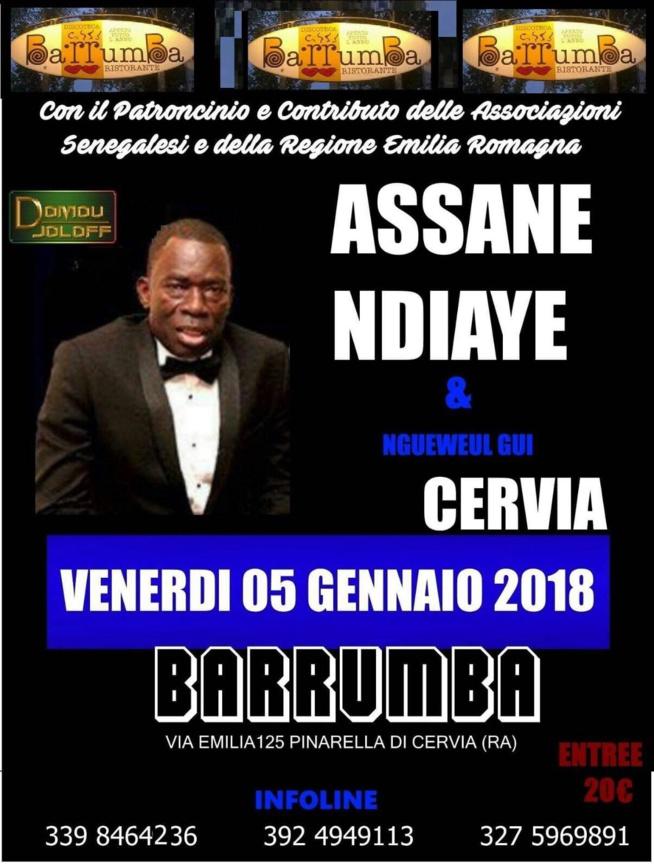 """Assane Ndiaye et le """"Nguéweul gui"""" bouclent leur tournée Européenne le 05 à CERVIA et le 06 Janvier à BRÉSCIA."""