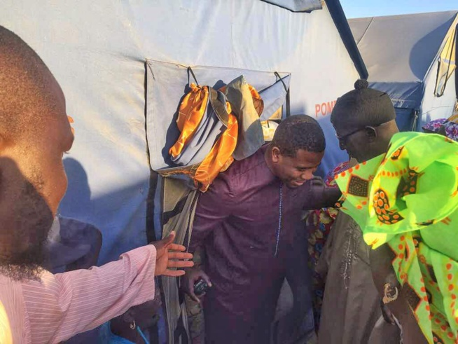 Le Président BOUGANE GUEYE en bon Saint Louis est allé rendre visite aux 200 familles sinistrés