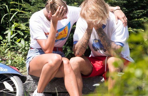 Justin Bieber et sa fiancée Hailey Baldwin, en larmes dans les rues de New York