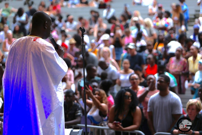 SUMMER STAGE DE NEW YORK: Pape Diouf méga star Marcus Garvey 124 st 5 ave. En images