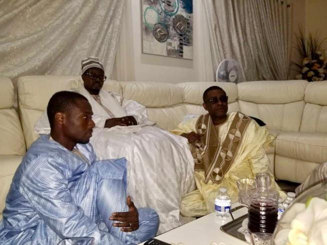 CONDOLÉANCES: Serigne Basse Abdou Khadre chez Birane Ndour DG GFM suite au décé de sa mère.