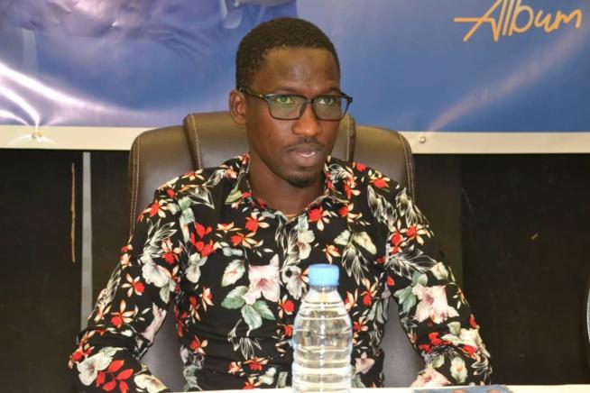 Demba Guisse face à la presse pour présenter son 15eme Etage qui vient de sortir.