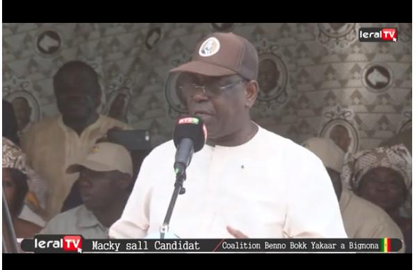 VIDEO - Macky Sall à Bignona, « Jamais en Casamance, nous n'avions connu une telle stabilité économique, une paix aussi durable»