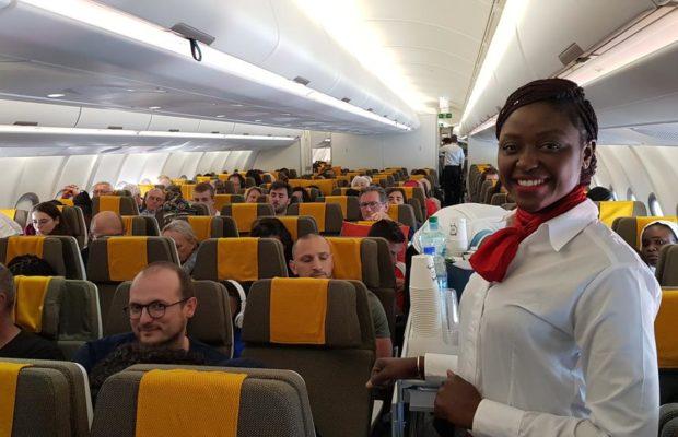 A bord de la Casamance pour son premier vol commercial Dakar- Paris Dakar