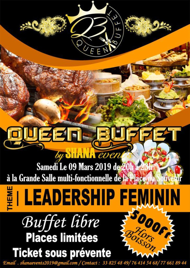 GALA: QUEEN BUFFET BY Shana Events pour un Leadership Féminin avec Zoula .En images.