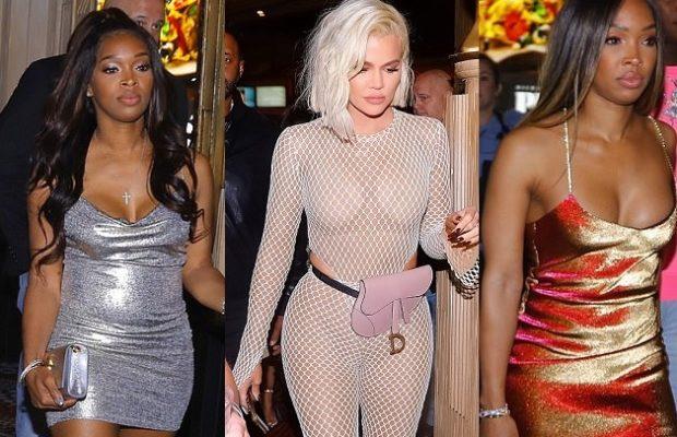 Khloé Kardashian surprend dans une tenue transparente assez osée … à l'anniversaire de sa meilleure amie, sœurs jumelles Malika et Khadijah