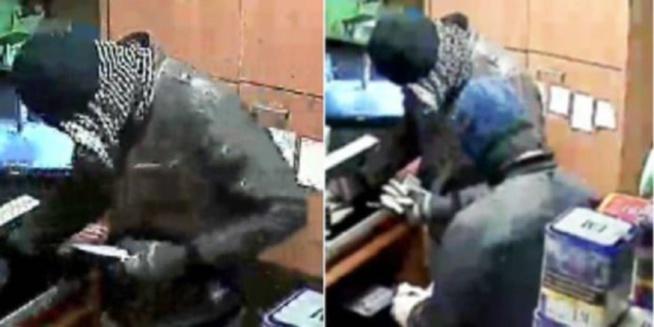 La police technique et scientifique collecte des indices et ramasse 5 douilles sur la scène du braquage