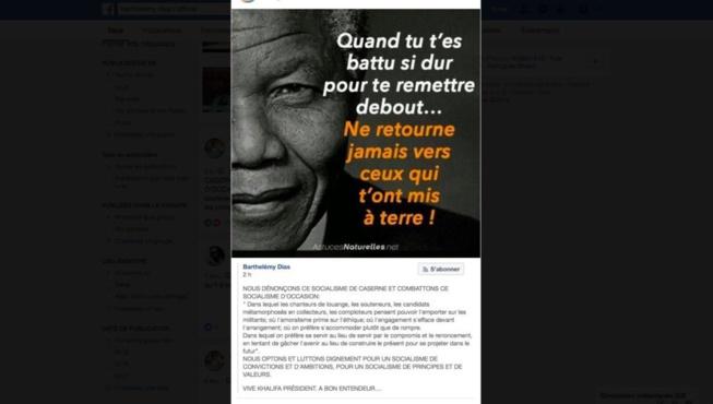 Main Tendue de Ousmane Tanor Dieng : La cinglante réponse de Barthélémy Dias