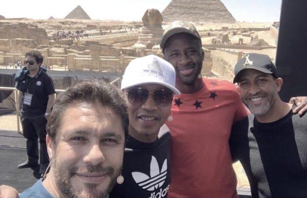 Diouf, Yaya Touré : les stars africaines posent sous les pyramides avant le tirage de la Can