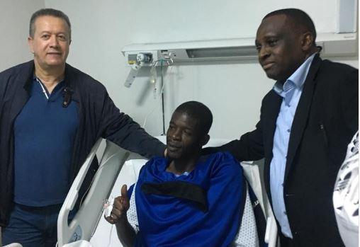 Blessure de Khadim Ndiaye: La première image après son intervention chirurgicale à Rabat: