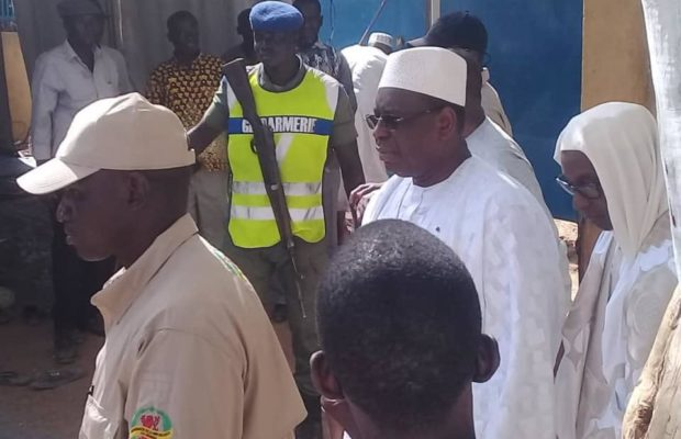 Les images de l'arrivée du président Macky Sall au Daaka de Médina Gounass