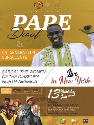 AMERICAN TOUR: New African Production présente Pape Diouf au Symphonispace à Atlanta le 04, New York le 13 JUILLET
