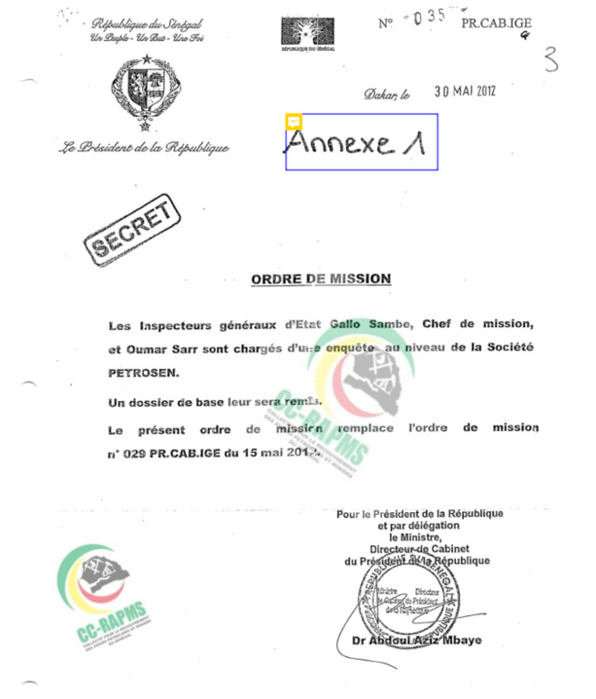 Affaire Petro-Tim : La lettre de mission de l'IGE émane de Macky Sall (Document)