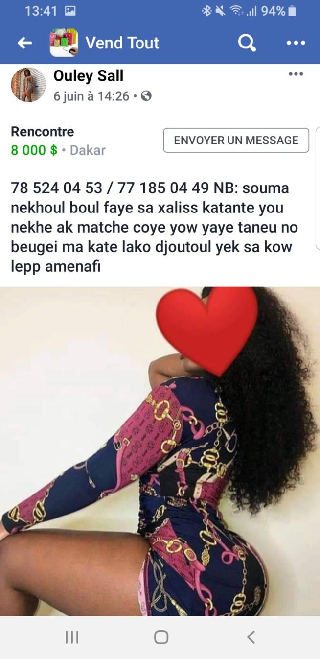 KAWTEF: Quand les filles se prostituent sur la page facebook vend tout.