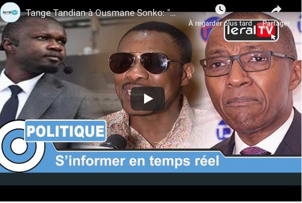 "Tange Tandian à Ousmane Sonko: ""Meunon di marche ba paré nekk sa auto..."""