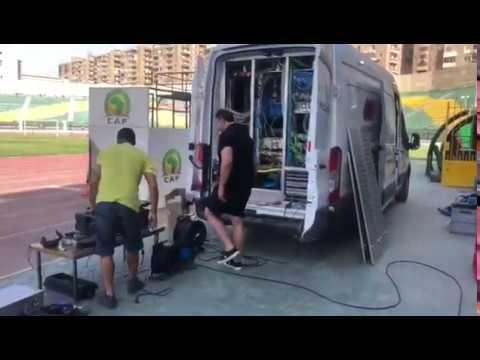 En pleine installation de la VAR pour le match Sénégal Vs Bénin (vidéo)