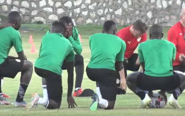 Entraînement des Lions : Aliou Cissé a effectué une mise en place tactique, sans Niang et Diagne