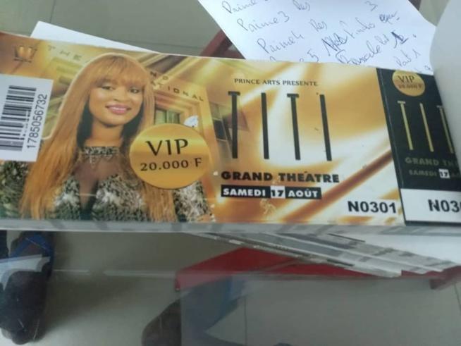 TITI au grand theatre le 17 aout, pensez à acheter vos tickets sont disponibles.