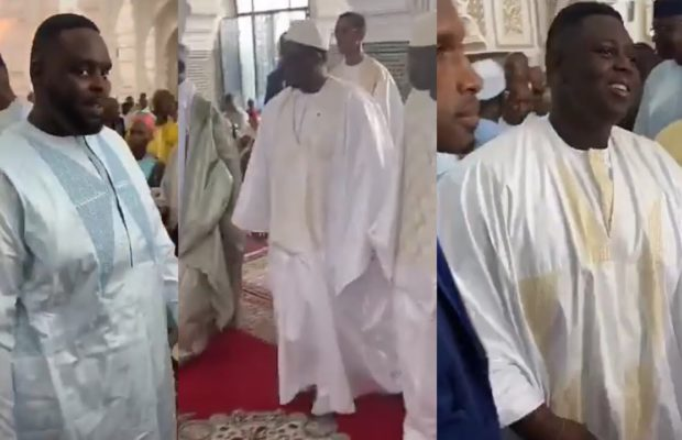 Video: Macky Sall et son Fils Amadou lors de prière de Tabaski