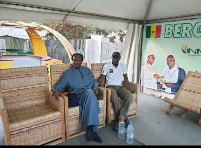 Abou Kâne, le patron de Bergerie Galoya partenaires Baba Diao et Amadou Sall