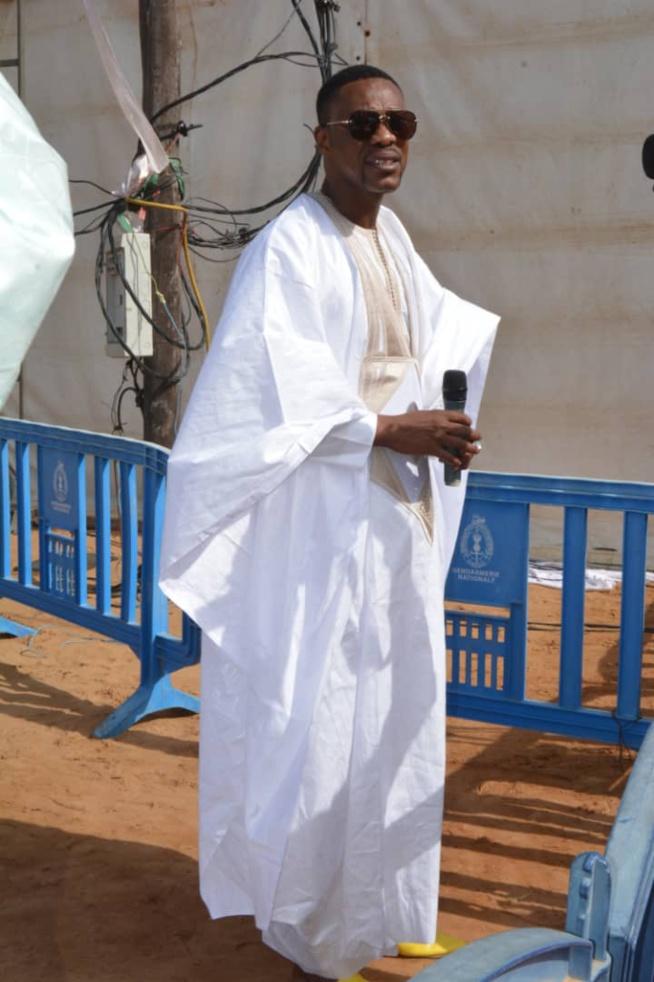 Le Directeur de l'OMART, Tange Tandian et le fils de Madické Niang, Allé à la priére de la Tabaski à Massalikoul Djinane.