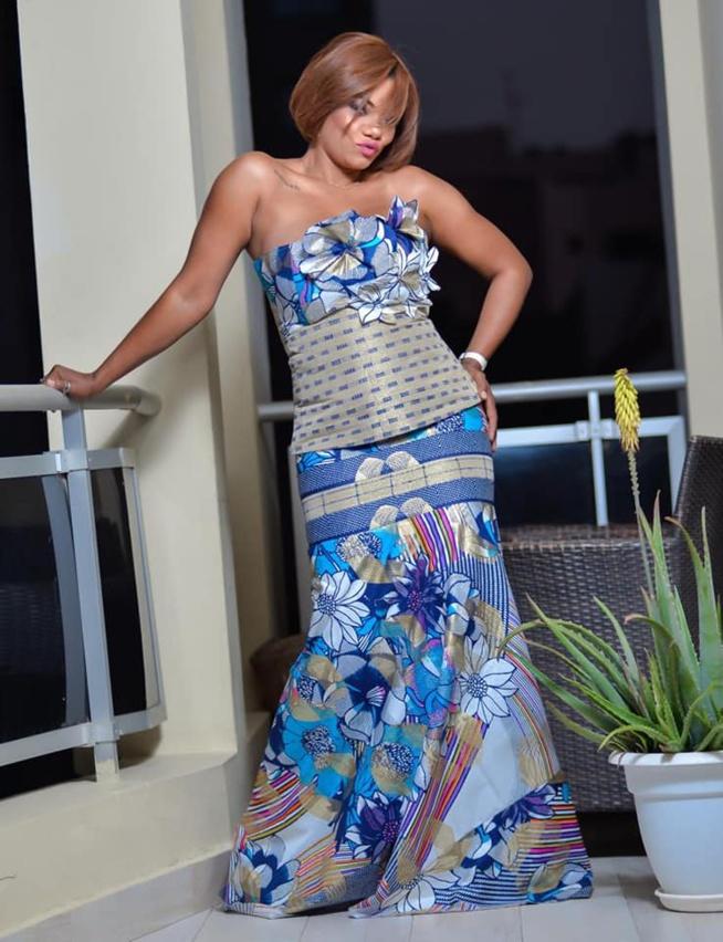 Valérie « la douce moitié d'El Hadj Diouf » dans une tenue qui dévoile ses atouts