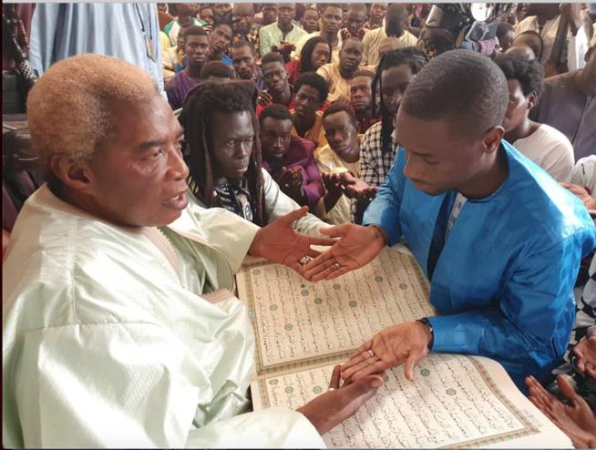 NDINDY: Le PDG du groupe futurs médias, Birane Ndour chez Serigne Abdou Karim Mbacké.