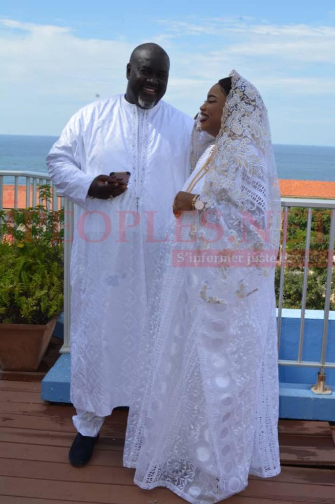 BAPTÉME: Le producteur Mbacké Dioum heureux avec son épouse.