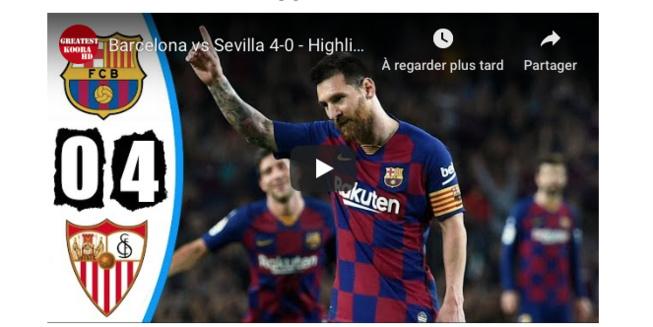 VIDEO - Ваrсеlоnа vs Sеvilla 4-0 - (Résumé, Temps forts, buts) HD