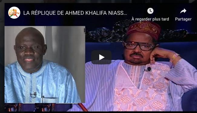 LA RÉPLIQUE DE AHMED KHALIFA NIASS À GASTON MBENGUE