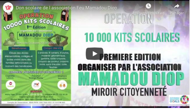 OEUVRES SOCIALES: L'association Feu Mamadou Diop, Miroir Citoyenneté Distribue 10 000 Kits Scolaires.
