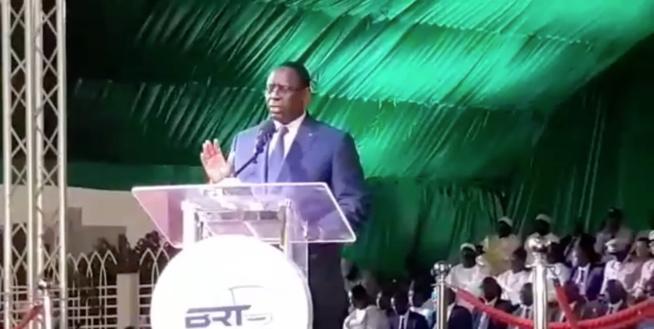 VIDÉO: Discours du président Macky Sall à Guédiawaye pour le lancement du BRT.