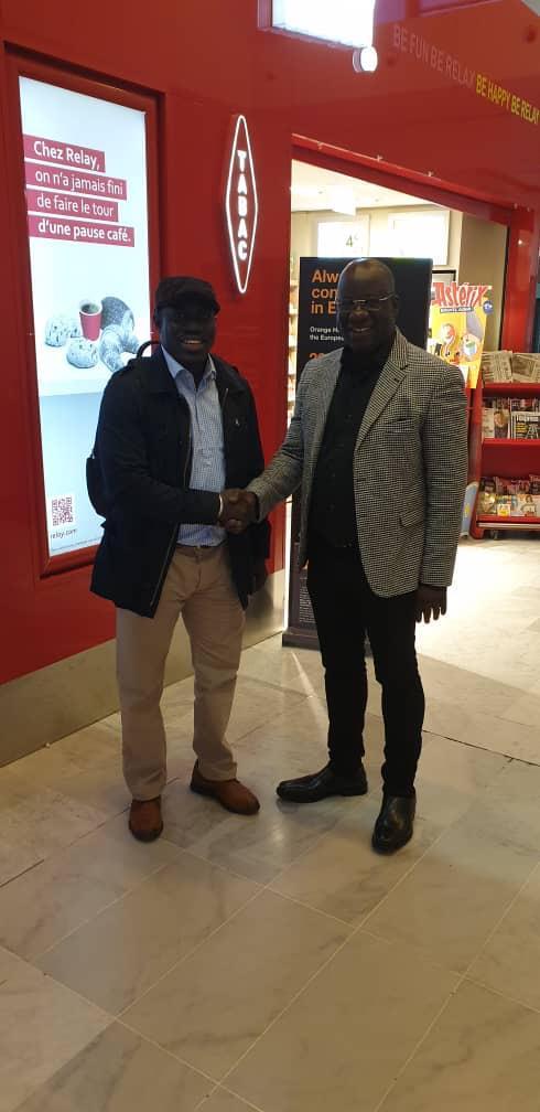 Arrivé du Président Mbagnick Diop ce jour à Paris pour l'organisation pratique des African Leardership Awards à Paris