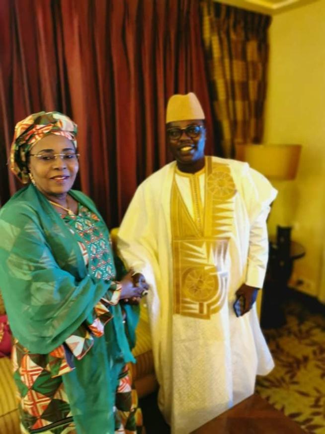 Bour Nguéweul de la sicap en compagnie de la premiére dame du Niger