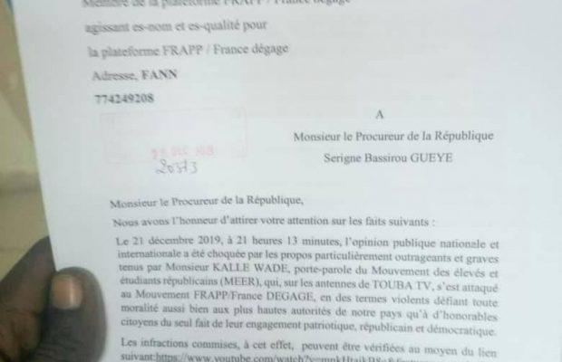 Affaire du MEER: Voici la plainte du « FRAPP France dégage »