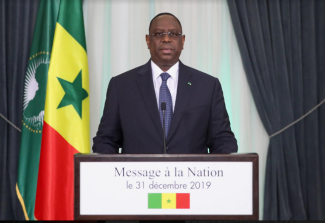 31 Décembre 2019: L'intégralité du Message à la Nation du Président Macky Sall à l'occasion du nouvel An