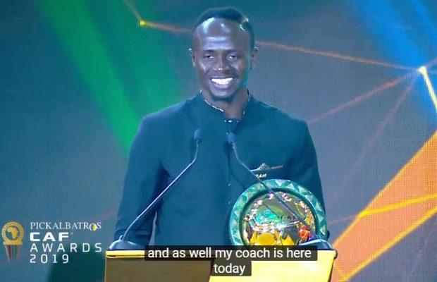 CAF Awards 2019 : Sadio Mané élu meilleur joueur africain de l'année, Les premiers mots de Sadio
