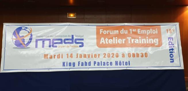 L'Atelier Training de la 19ème édition du Forum du 1er Emploi ce matin au King Fahd Palace Hôtel .