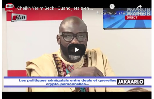 "Cheikh Yérim Seck parle de ses relations avecMacky Sall: ""quand j'étais en prison..."""