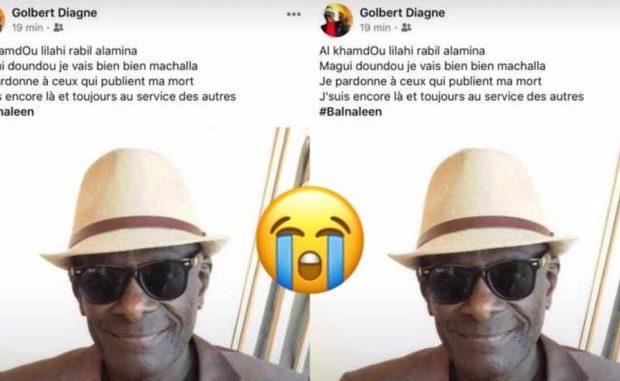 Toute la vérité sur l'intox qui annonce la mort de Golbert Diagne