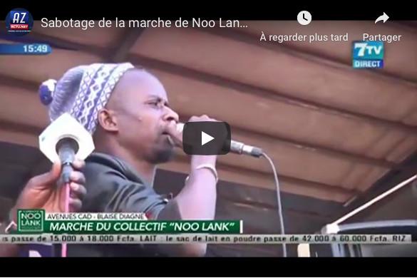 VIDEO-Marche de Noo Lank à l'UCAD: Fou malade dénonce un sabotage et accuse