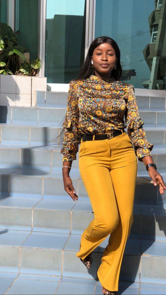 Khaadia Sy, se dévoile dans un nouveau style, tenue très classe et stylés