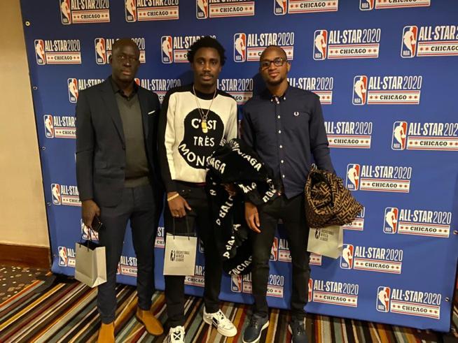 Les images de Waly Seck en compagnie de son manager, son frère Mouhamed et le snapeur Niang aux All Star  2020 à Chicago.