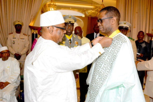 Mali : Youssou Ndour fait Commandeur de l'Ordre national par le président Ibrahim Boubacar Keita